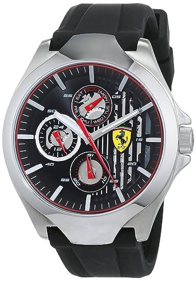 Scuderia Ferrari Reloj Multiesfera para Hombre de Cuarzo con Correa en Silicona 830510: Amazon.es: Relojes