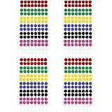 Oblique-Unique® Markierungspunkte 448 Klebepunkte I Durchmesser 8 mm I 4 Blatt I Farben jeweils 64 Stück Rot Grün Gelb Blau Schwarz Pink & Weiß