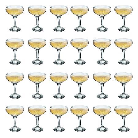 ed75d627cedd Rink Drink Champagne Glasses Vintage Coupe Glass Saucer – 200ml – Pack of 24