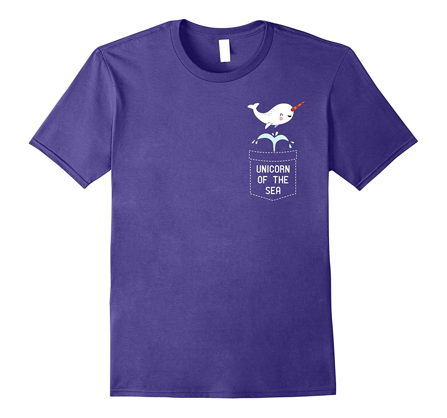Narwhals Unicorns Of The Sea Fake Pocket Ocean Mystical TEE-FL