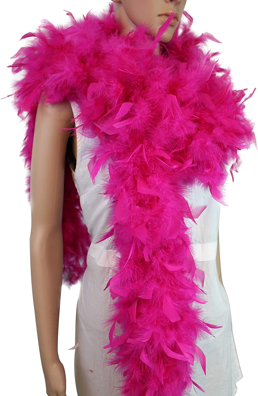 Holiday Decors-Yellow Happy Feather 2 Yards 100g Turkey Chandelle Feather Boa for Women Costume Accessory,Party Dancing Dress Up