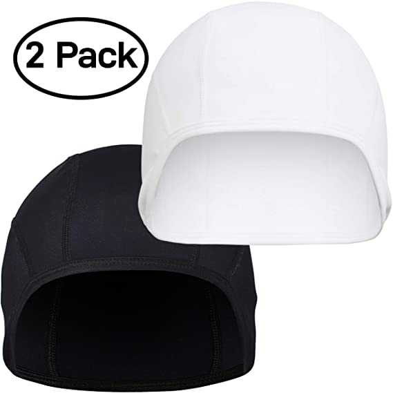 Amazon.com: GearTOP Skull Cap Helmet Liner Running Beanie (2 Pack Black and White): Automotive
