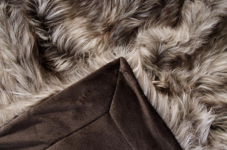 KG Couverture en Fourrure Couvre-lit Fausse Fourrure Grizzly Wohnen /& Accessoires GmbH /& Co bouillotte en Fourrure 25x35cm