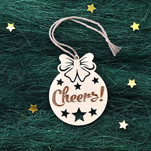 wood christmas ornament christmas tree decoration christmas gift laser cut christmas ornaments