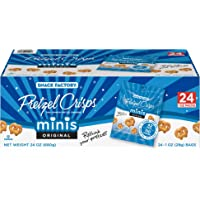 24-Count Snack Factory Pretzel Crisps Original Minis, Single-Serve 1 Oz