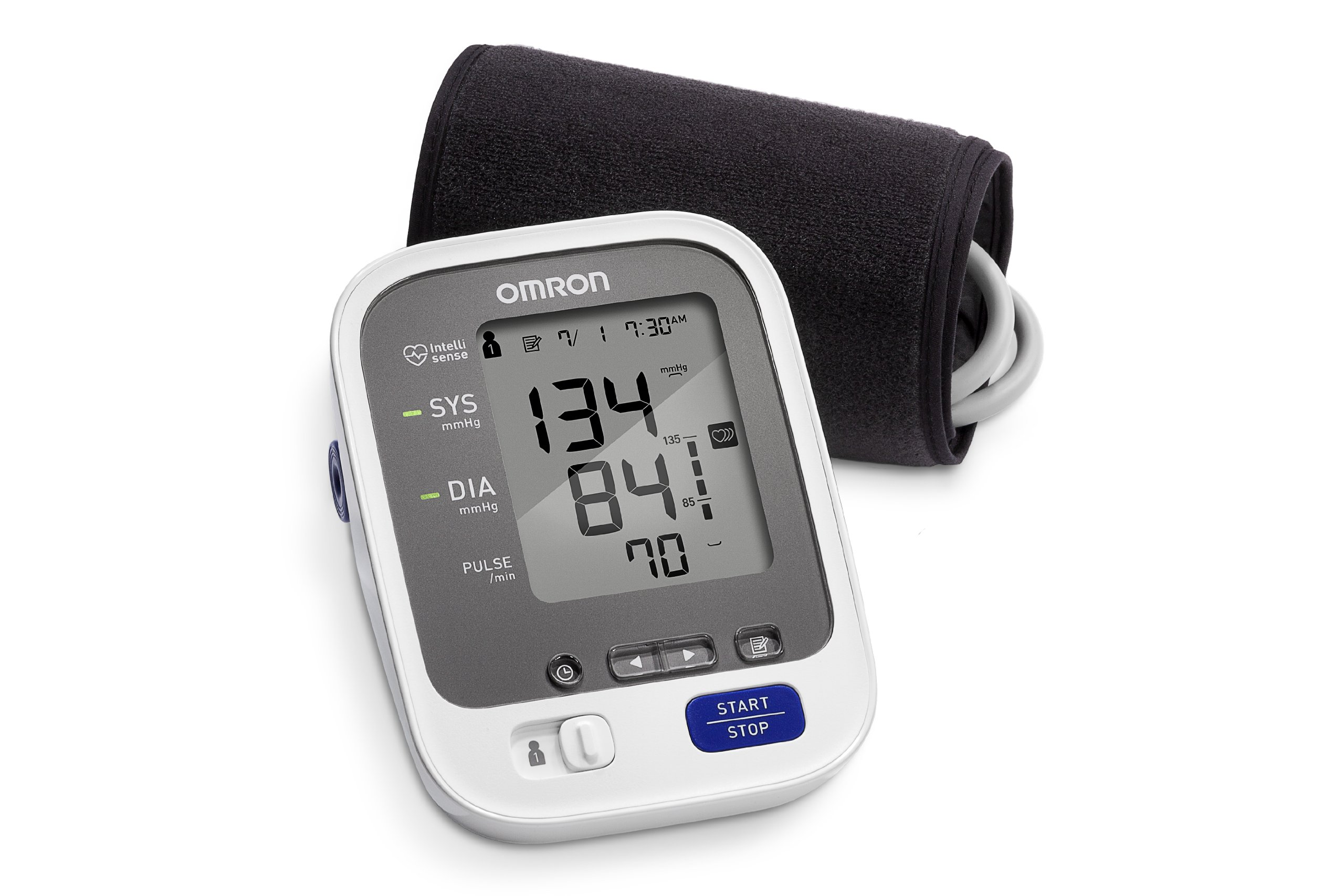 Omron 7 Series Upper Arm Blood Pressure Monitor; 2-User, 120-Reading Memory, Wide-Range Comfit Cuff, BP Indicator LEDs byOmron by Omron