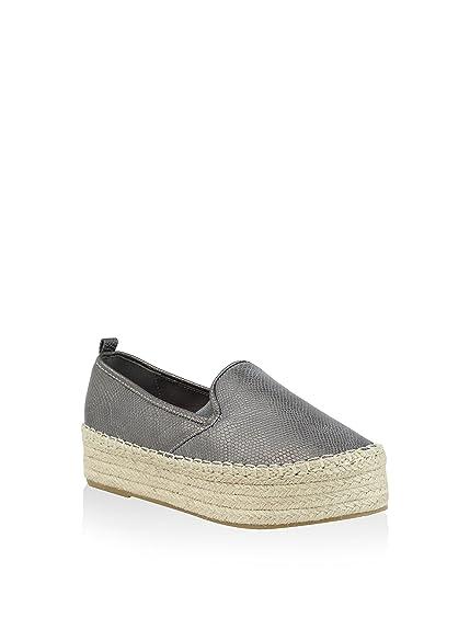 XTI 030204, Alpargatas para Mujer, Plateado (Plomo), 39 EU: Amazon.es: Zapatos y complementos