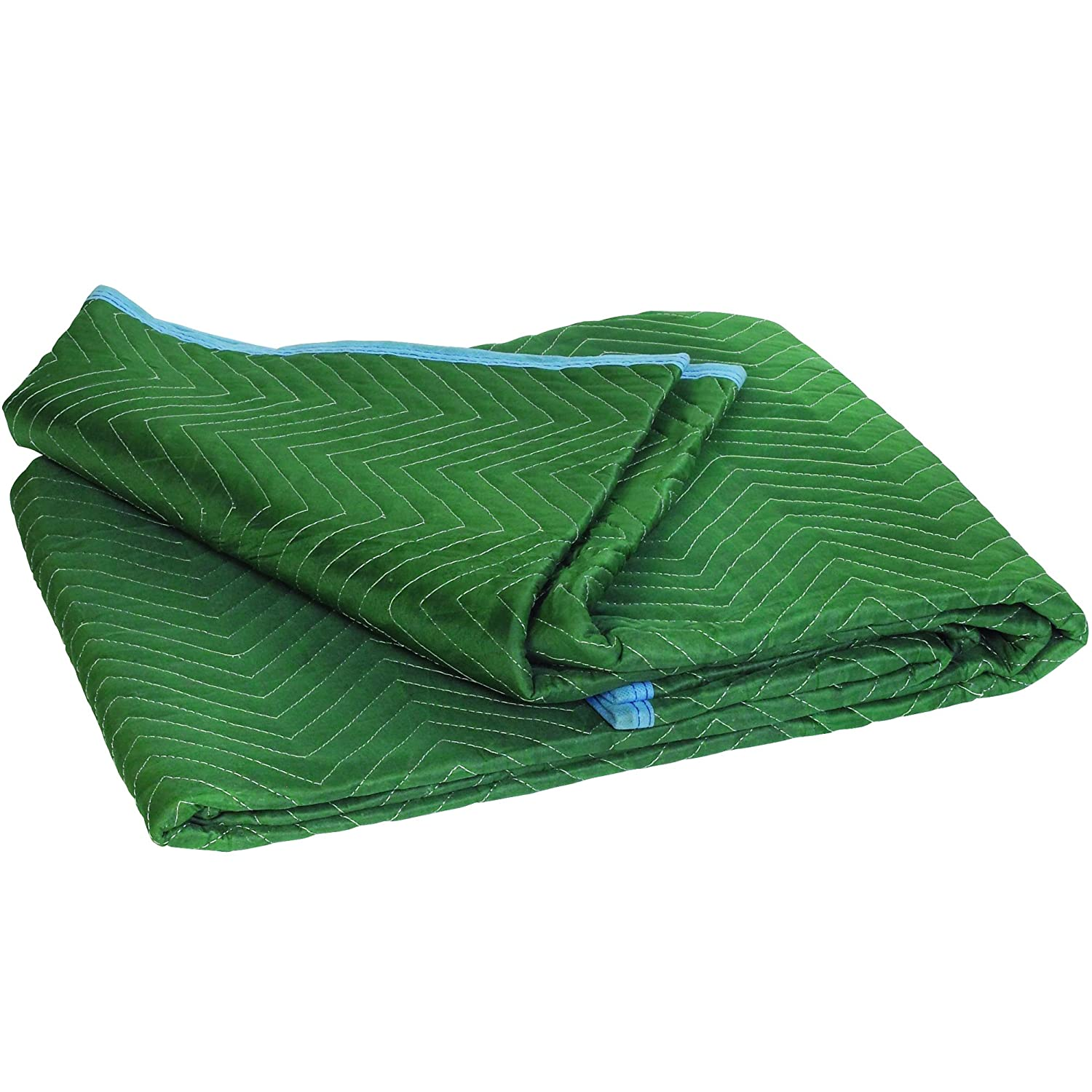 72 x 80 Pack of 6 80 Width 72 Length BOX USA BMB7280SMS Standard Moving Blankets Green