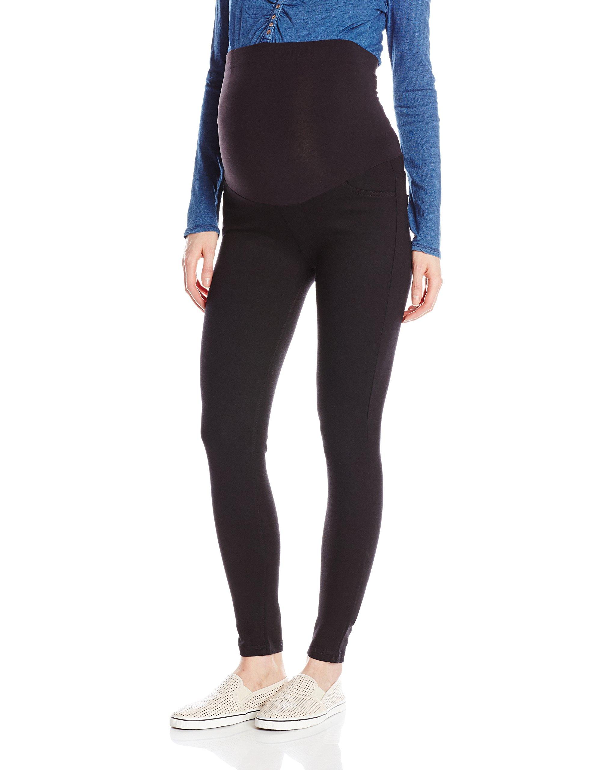 Ingrid & Isabel Women's Maternity Ponte Skinny Pants, Jet Black, Size 4