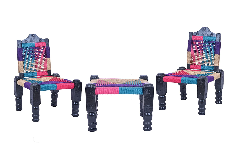 aashi enterprise high wooden back foldable chair khatli bajot set