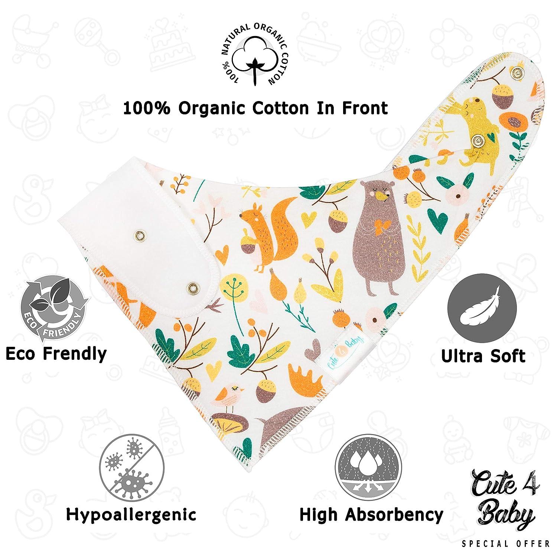 Unisex Baby Bandana Drool Bibs Great GlFT with Unique Designs 100/% Waterproof Baby Drool Bibs for Teething and Feeding