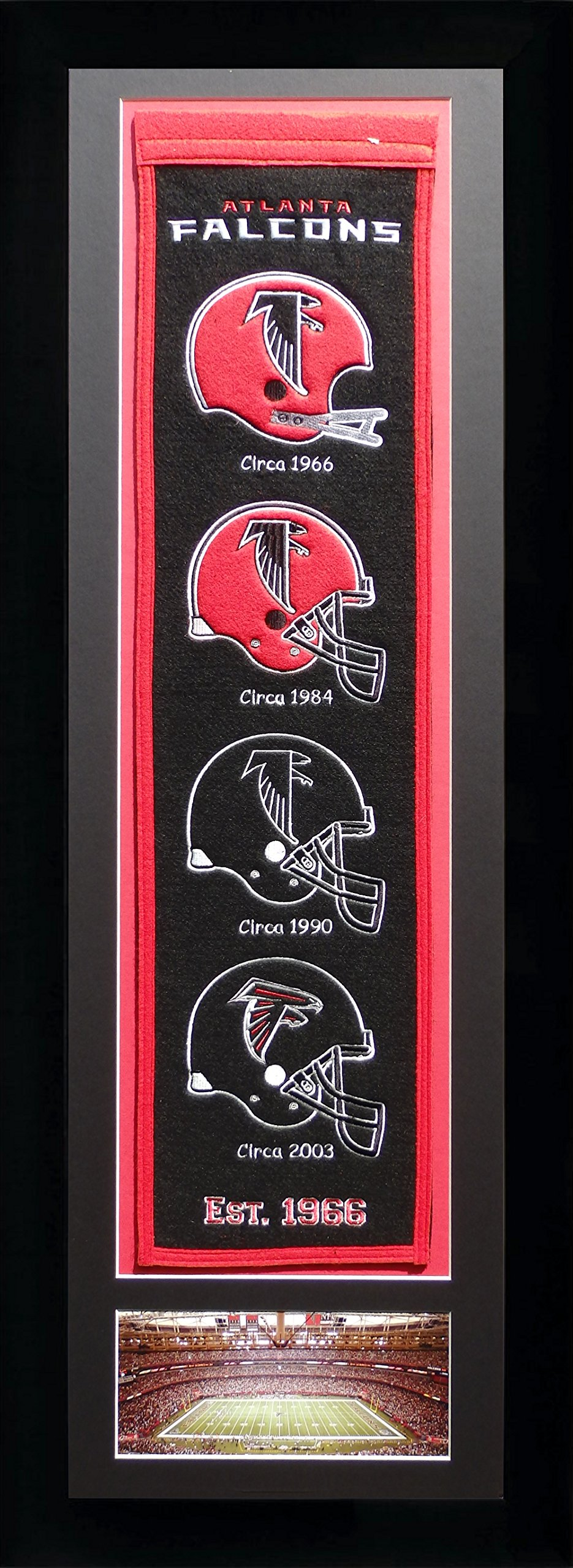 NFL Atlanta Falcons Legends Never Die Team Heritage Banner with Photo, Team Colors, 15'' x 42'' by Legends Never Die