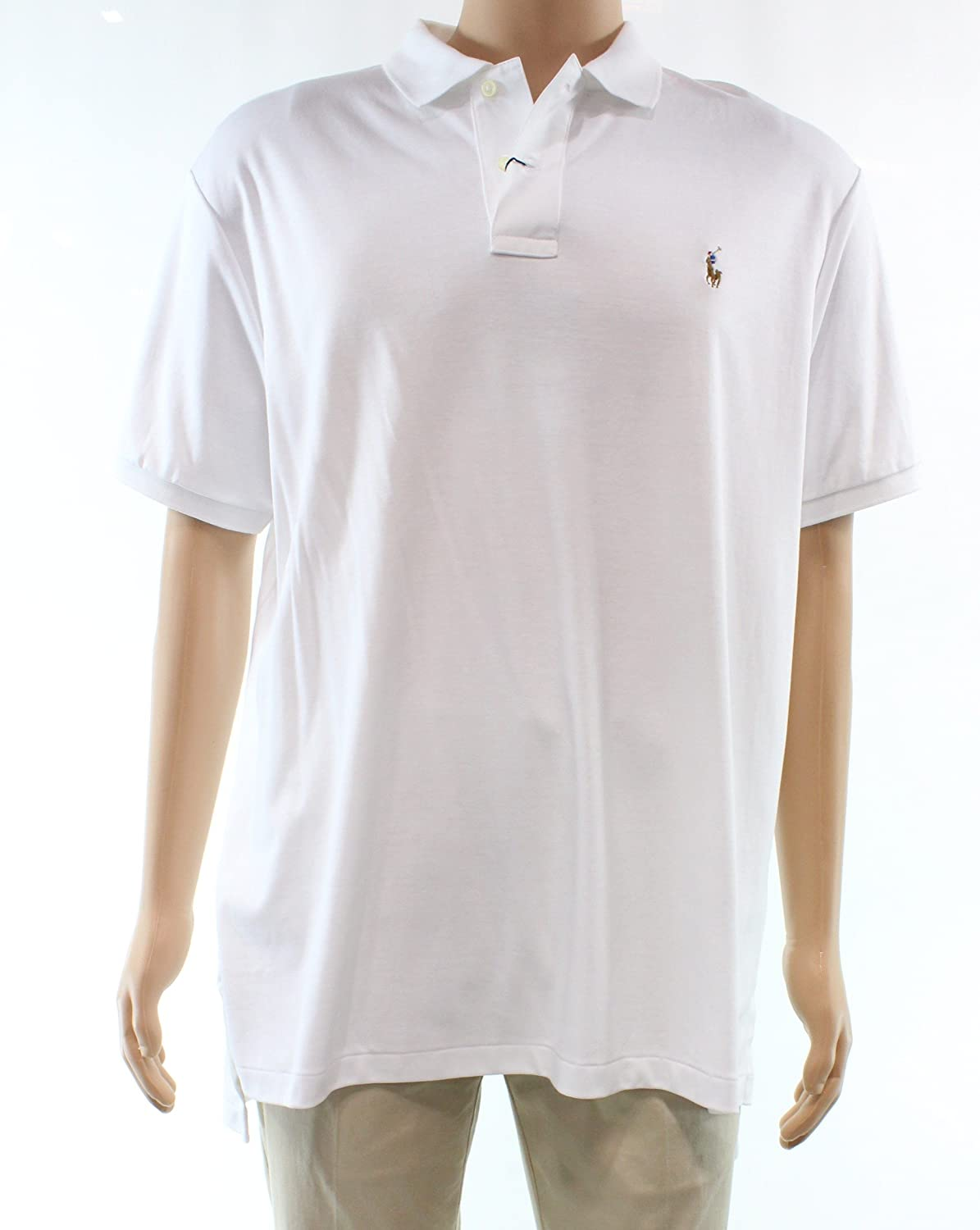 c1a037b3d 100% Cotton Polo Ralph Lauren Men Pima Soft Touch Polo Shirt Ribbed polo  collar.Two-button placket. Ralph Lauren's multicolored signature  embroidered pony ...