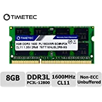 Timetec Hynix IC 8GB DDR3L 1600MHz PC3-12800 Unbuffered Non-ECC 1.35V CL11 2Rx8 Dual Rank 204 Pin SODIMM Ordinateur Portable Mémoire RAM Module Upgrade (8GB)