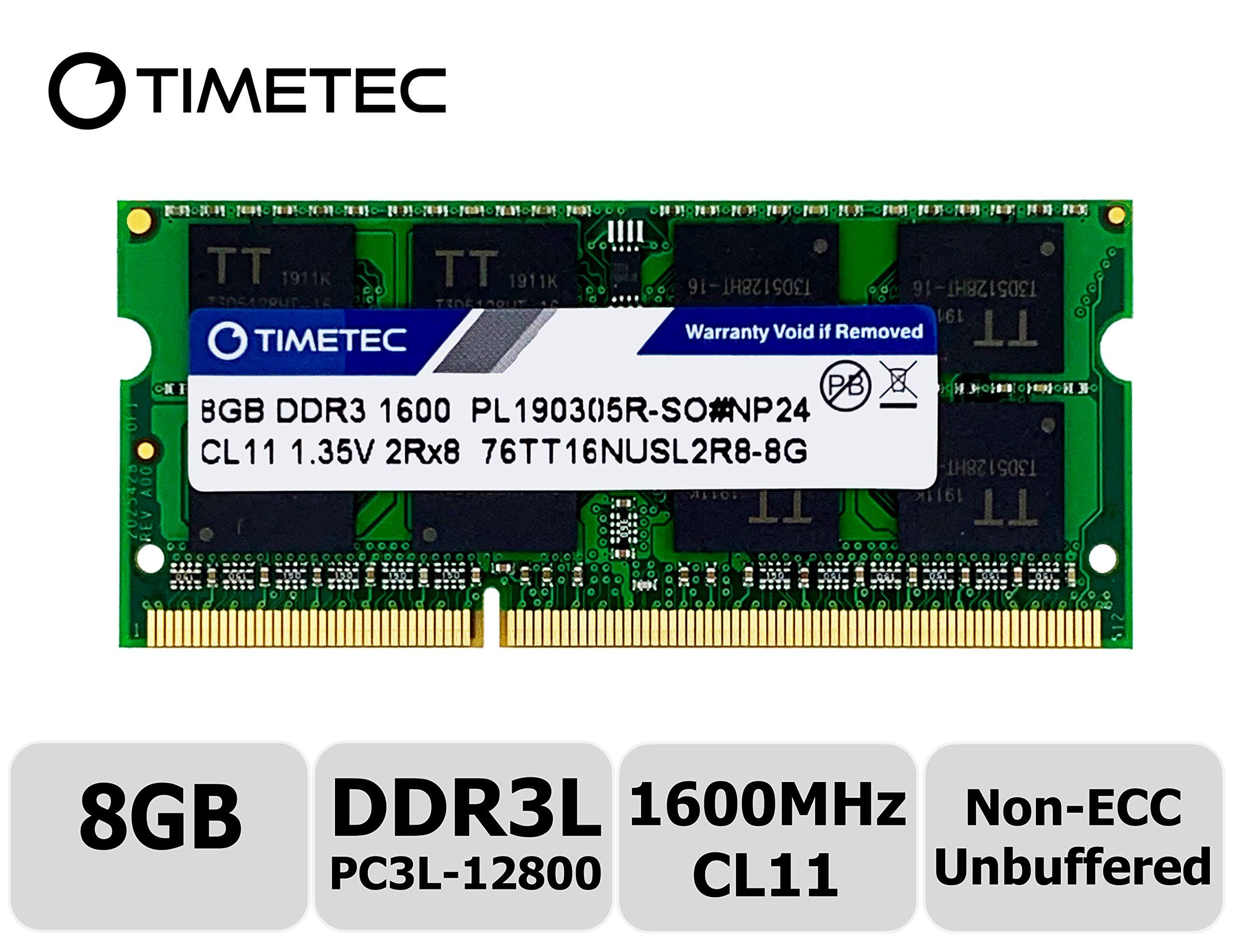 Memoria Ram 8GB DDR3 1600MHZ PC3L-12800 SODIMM TIMETEC A