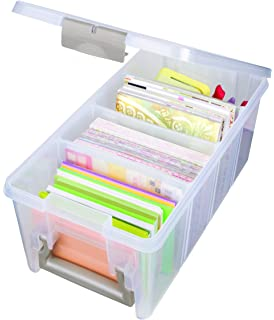 artbin super semisatchel clear art craft storage box 6925ab