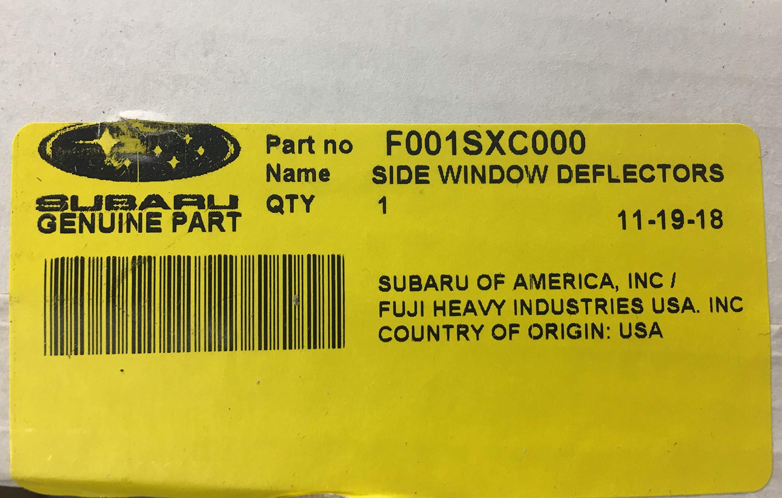 SUBARU Window Deflector 2019 Ascent Side Window Wind Deflectors Vent Visors F001SXC000 Genuine