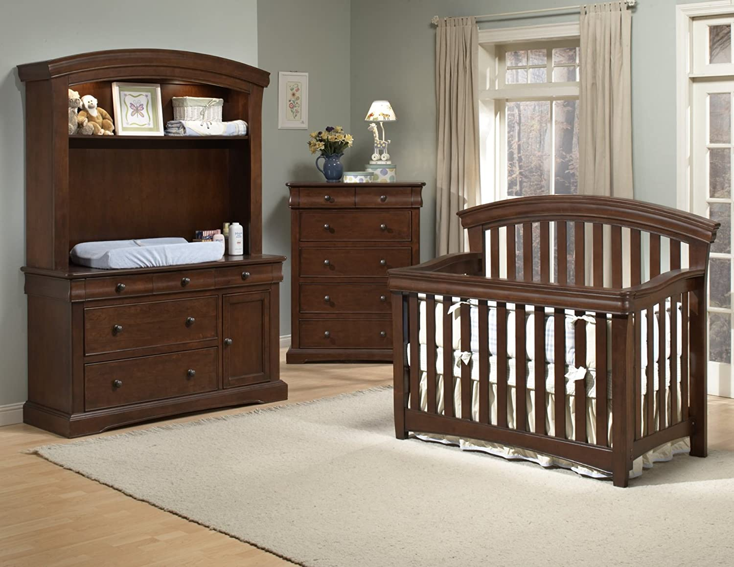 Lovely Amazon.com : Westwood Design Stratton Convertible Crib With Guard Rail,  Chocolate Mist : Baby