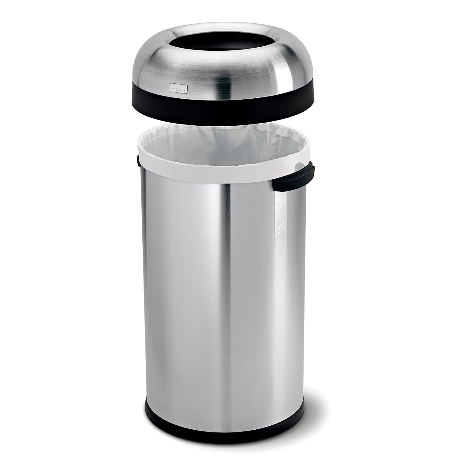 Large Size Of White Plastic Bullet Trash Can Rubbermaid 9630 Stainless Steel