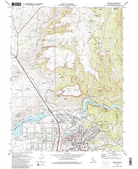 Amazon Com Yellowmaps Oroville Ca Topo Map 1 24000 Scale 7 5 X