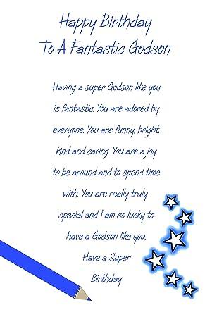 Godson birthday card amazon office products godson birthday card bookmarktalkfo Images