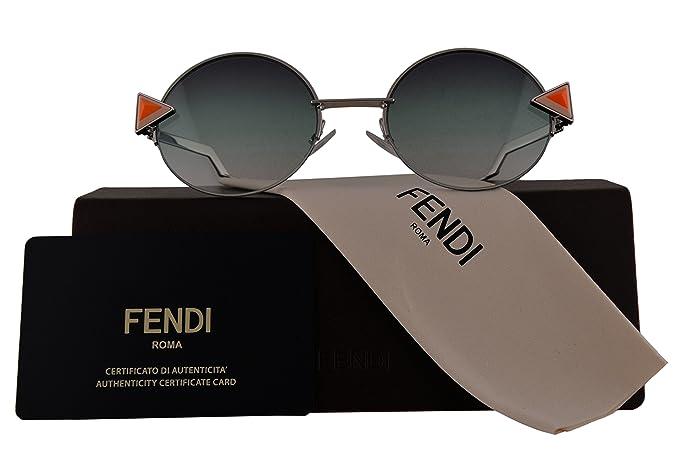 Amazon.com: Fendi anteojos de sol Authentic ff0243/S plata w ...
