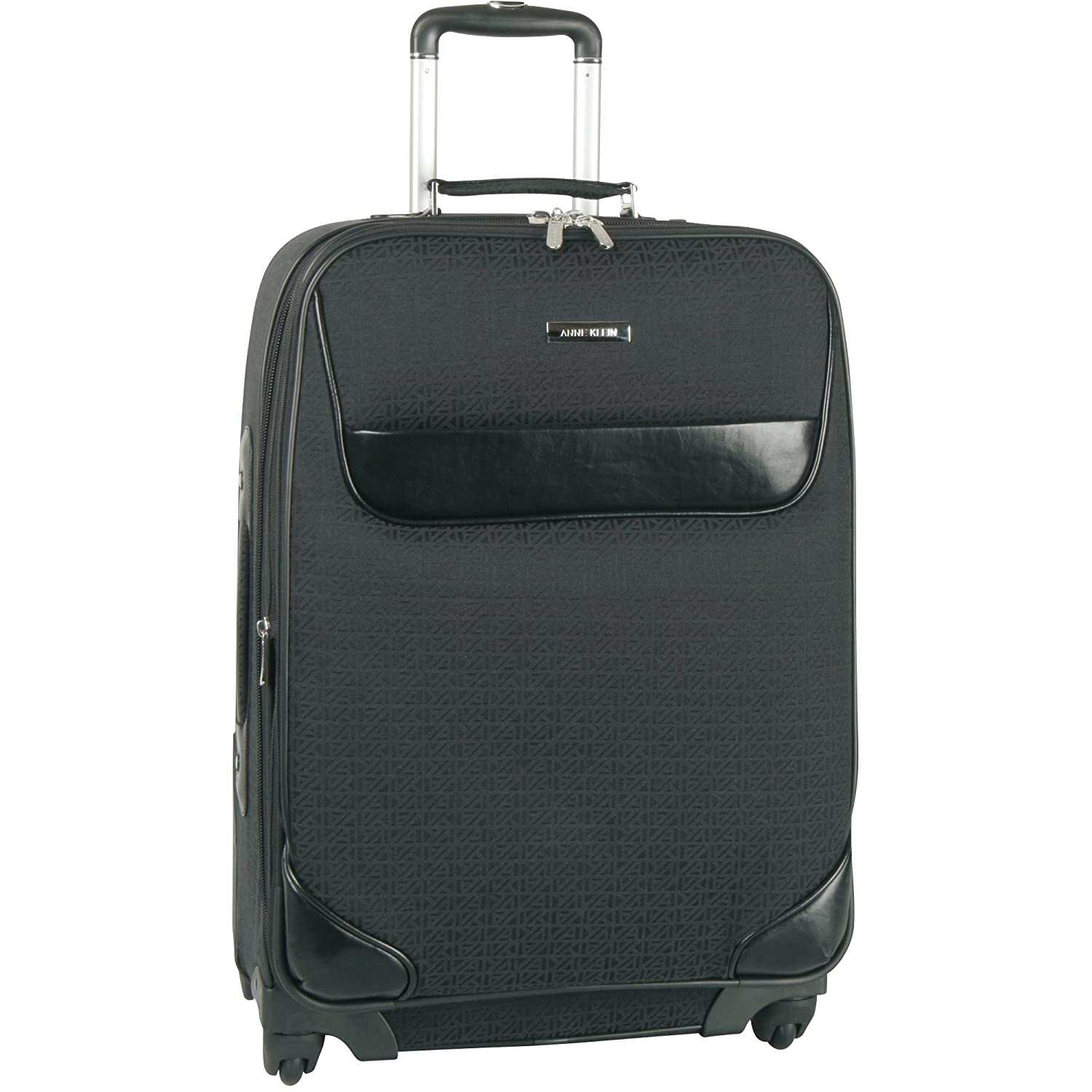 Anne Klein Luggage Signature Jacquard Spinner Carry-On, Black Tonal, One Size