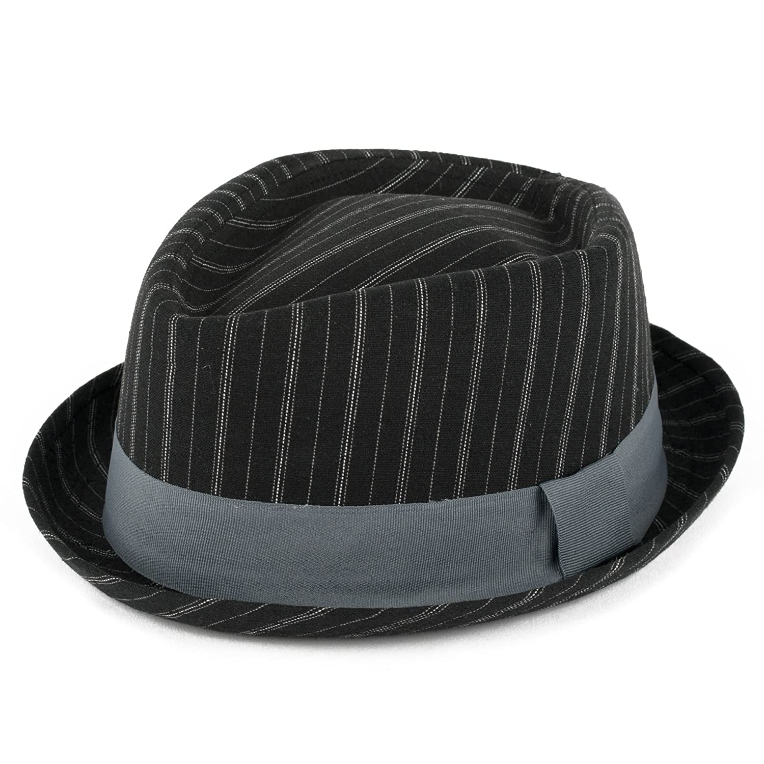 Hat To Socks Diamond Shaped Pinstriped Summer Pork Pie Hat