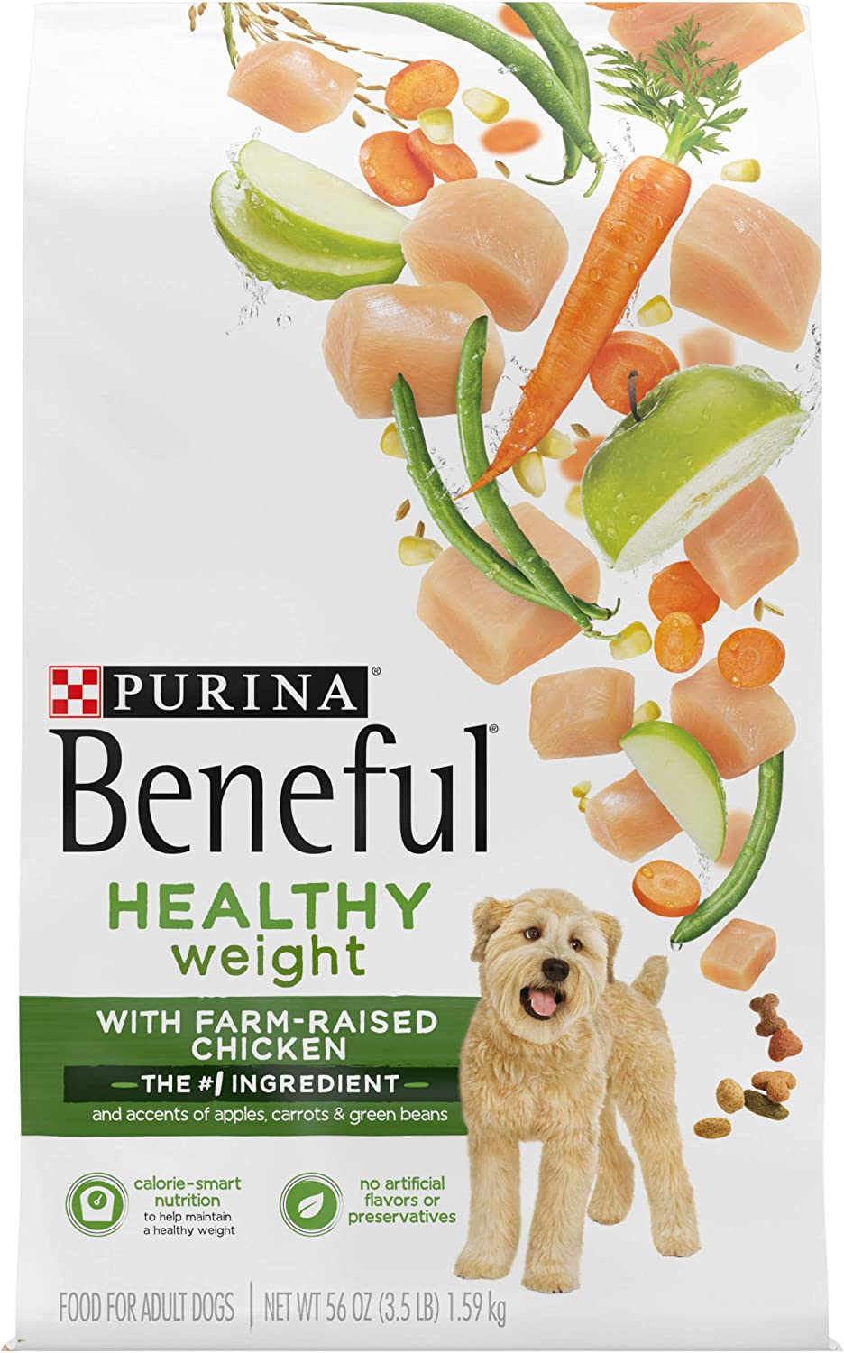 Purina Beneful Healthy Weight Dry Dog Food, Healthy Weight With Real Chicken - (4) 3.5 lb. Bags