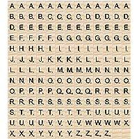 Madholly 169 piezas de madera letras scrabble letras