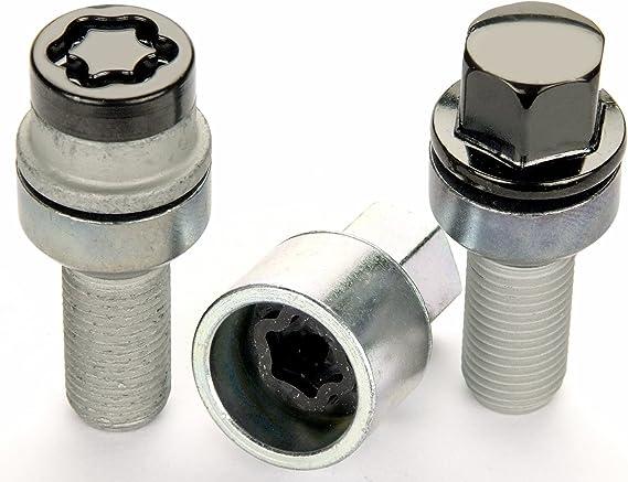 McGard 68018 Chrome M14 x 1.5 Thread Size Radius Seat Lug Bolt Wheel Installation Kit for 5 Lug Vehicles