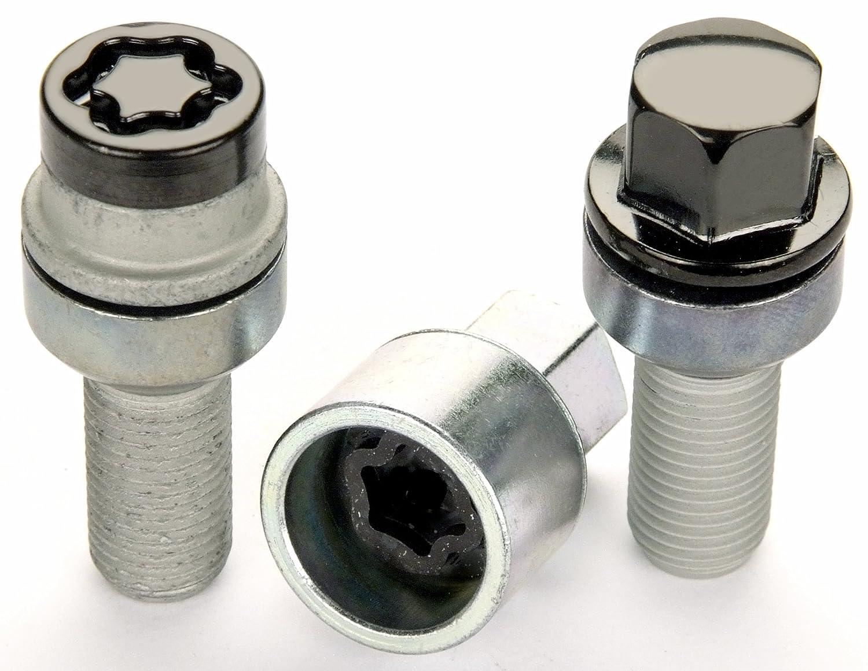 McGard 68032 Chrome M14 x 1.5 Thread Size Radius Seat Lug Bolt Wheel Installation Kit for 5 Lug Vehicles