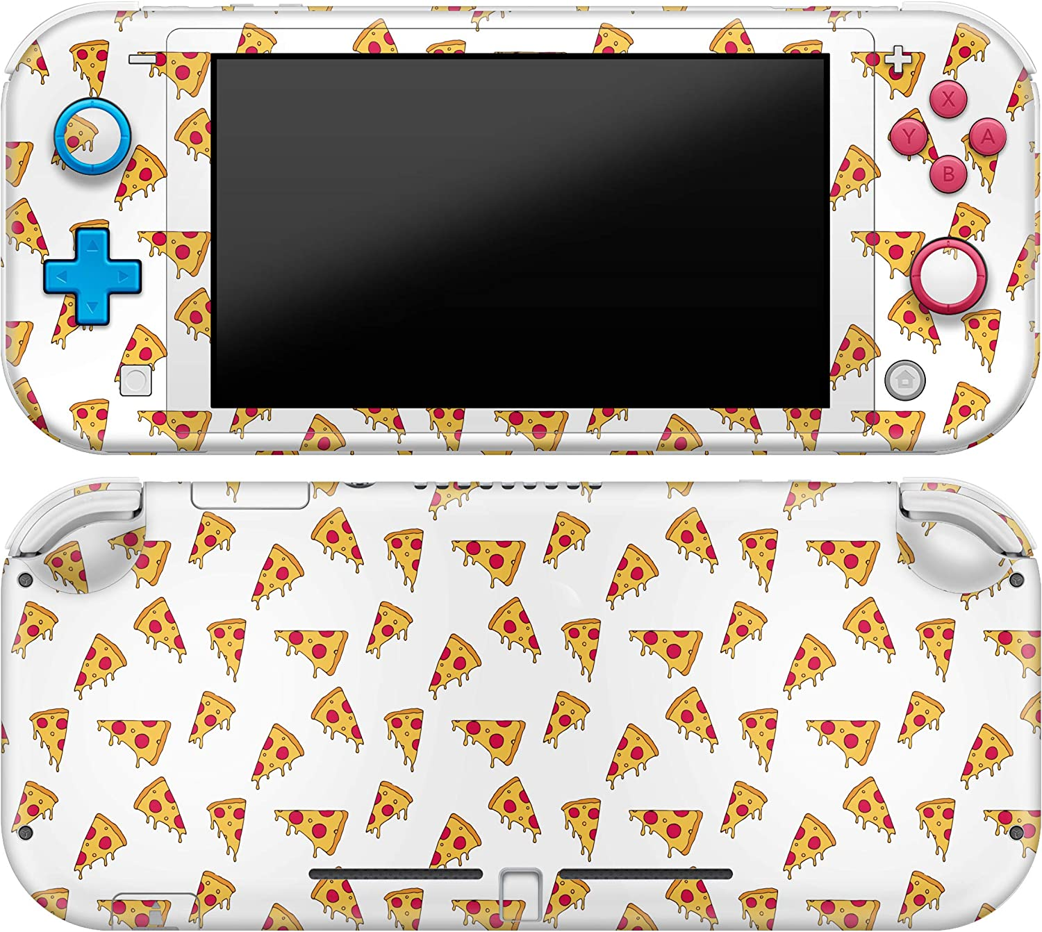 Cavka Vinyl Decal Skin Compatible with Console Switch Lite (2019) Stickers with Design Pizza Pattern Kitchen Cover Protector Wrap Italiano Print Food Protection Tasty Full Set Durable Hot Faceplate