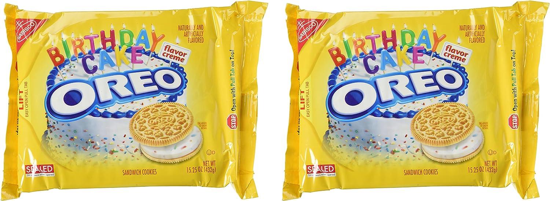 Terrific Oreo Golden Birthday Cake Cookies Limited Edition 2 Pack Amazon Personalised Birthday Cards Veneteletsinfo