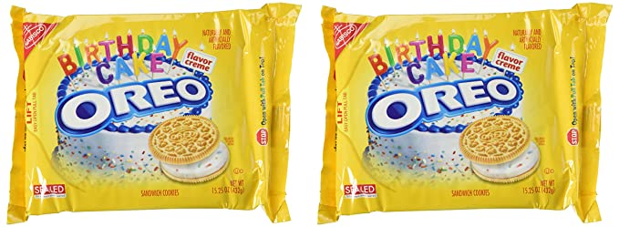 Oreo Golden Birthday Cake Cookies Limited Edition 2 Pack by Oreo