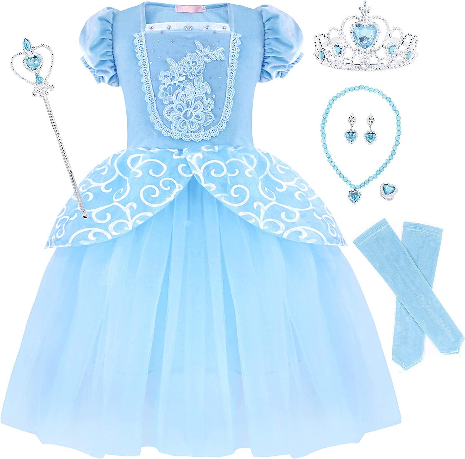 HenzWorld Little Girls Dresses Costume Cape Clothes Princess Halloween Cosplay Party Outfits Velvet Long Sleeve