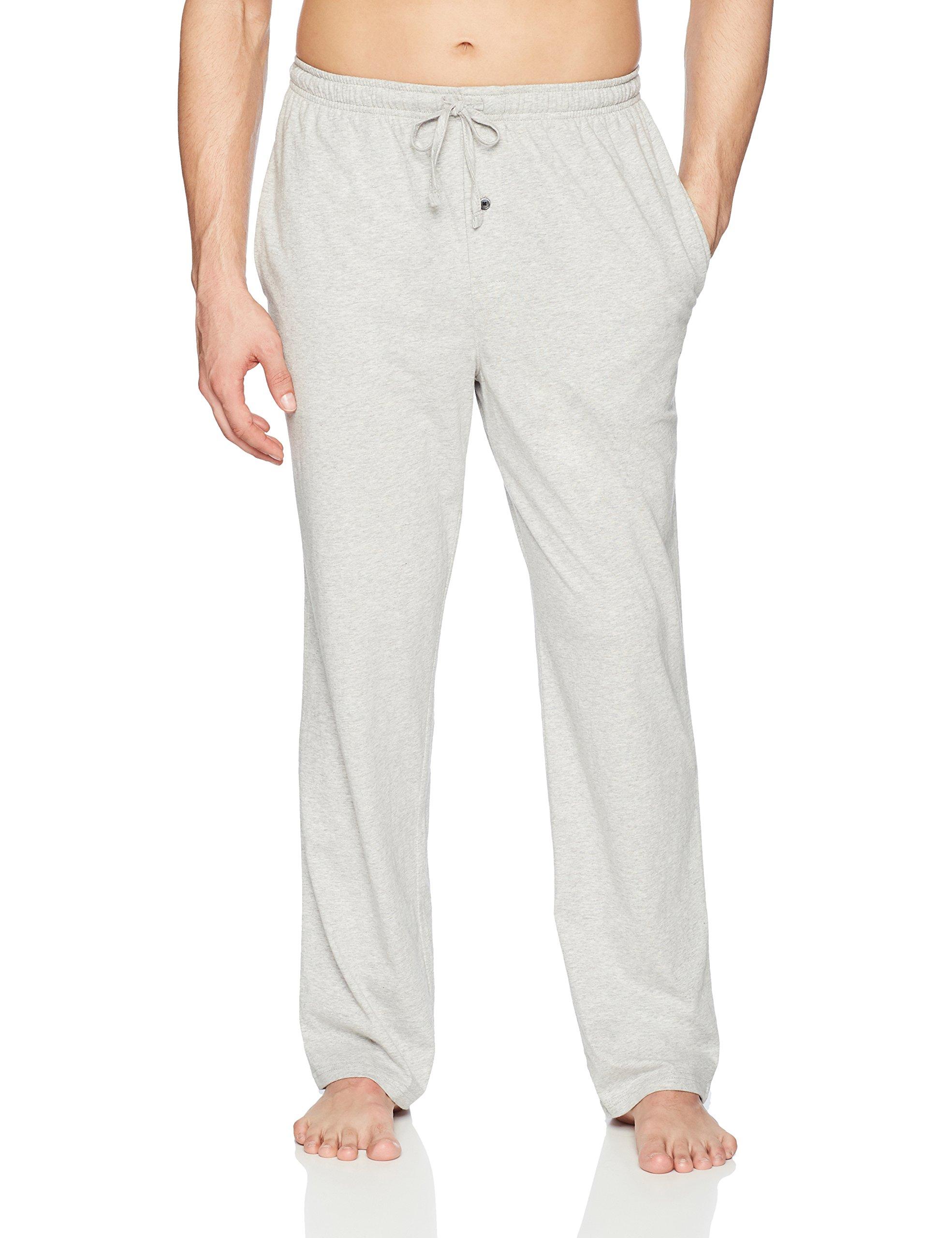 Amazon Essentials Men's Knit Pajama Pant, Light Grey Heather, Small