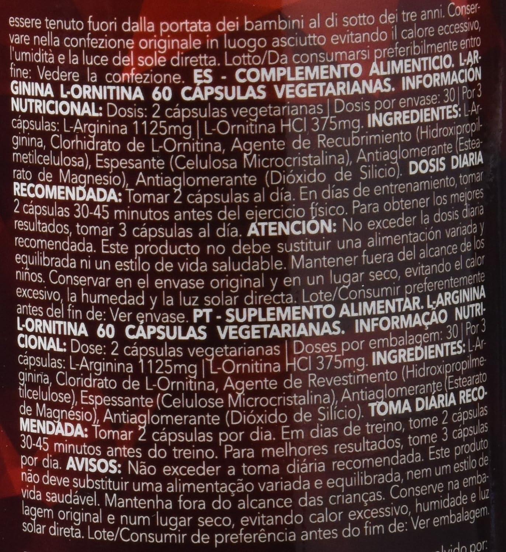 Prozis L-Arginine L-Ornithine - 60 Cápsulas: Amazon.es: Salud y cuidado personal