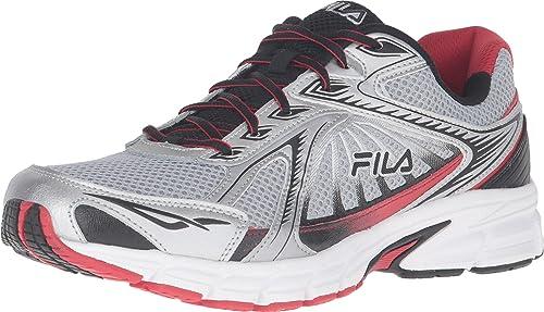 1dfd3ddeb72f9 Fila Men's Omnispeed Metallic Silver/Fila Red/Black Sneaker 12 D (M ...