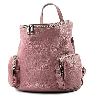 a53a33a8e42dc modamoda de - T175 - ital Damen Rucksack Tasche aus Leder