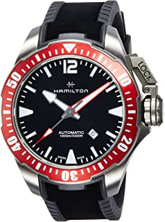 H77805335 Mens Khaki Navy Frogman Automatic Mens Watch