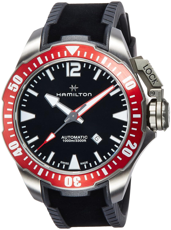 [ハミルトン]HAMILTON 腕時計 カーキ ネイビー オープン ウォーター ダイバーズ H77805335 メンズ 【正規輸入品】 B01HRJXPHQ