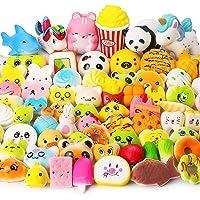 WATINC Random 70 Pcs Squishies, Birthday Gifts for Kids Party Favors, Slow Rising...