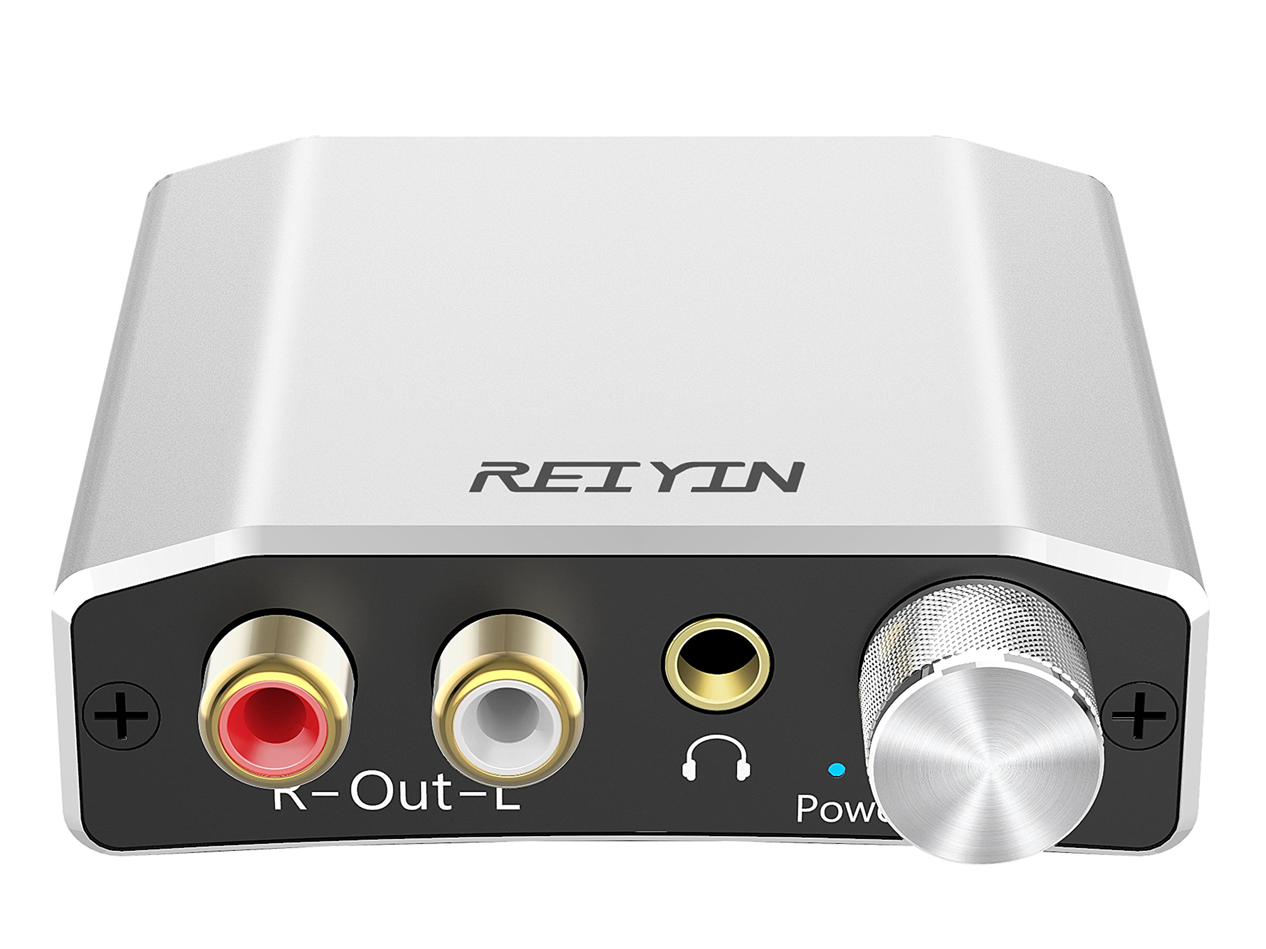 Reiyin DA-01 Digital to Analog Converter DAC Digital Optical Coaxial Toslink to Analog Stereo L/R RCA 3.5mm Audio Adapter with Volume Control for PS3 PS4 Xbox DVD AV Amps Cinema Systems Apple TV