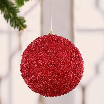 Albero Di Natale Shabby Chic Rosso.Edg Enzo De Gasperi Decoro Pallina Albero Di Natale Shabby