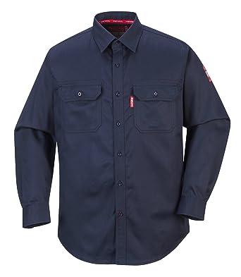 Portwest FR89NAR6XL Bizflame 88/12 camisa, 6XL, azul marino ...