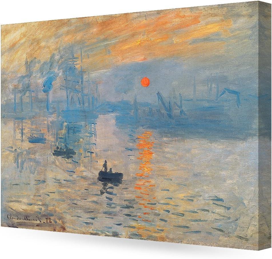 Amazon Com Decorarts Impression Sunrise Claude Monet Art Reproduction Giclee Canvas Prints Wall Art For Home Decor 30x24 X1 5 Posters Prints