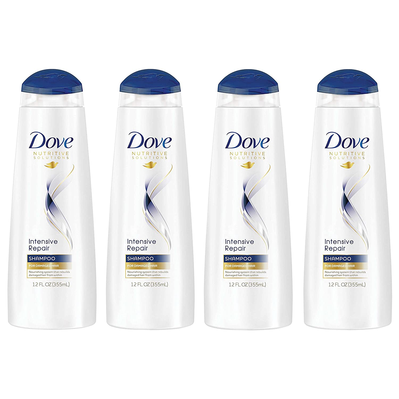 Dove Nutritive Solutions Shampoo, Intensive Repair 12 Fl Oz, Pack of 4