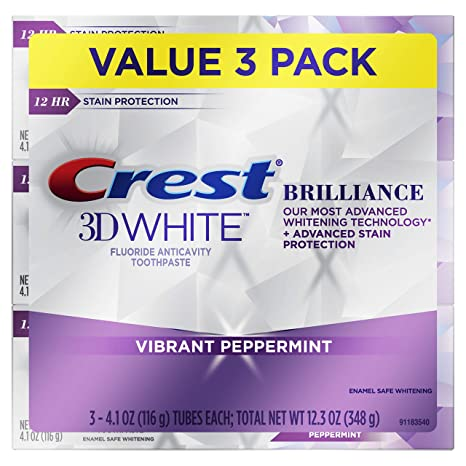 Amazon Com Crest 3d White Brilliance Vibrant Peppermint Teeth