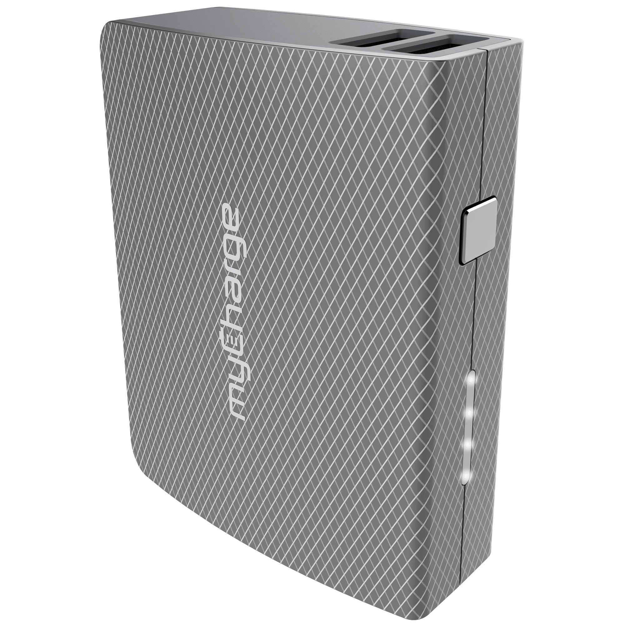 myCharge AmpPlus Portable Charger 4400mAh / 2.4A Dual USB Port External Battery Pack Power Bank for USB and Apple Android (iPhone XS, XS Max, XR, X, 8, 8 Plus, 7, 6S, iPad, Samsung Galaxy, LG, Nokia)